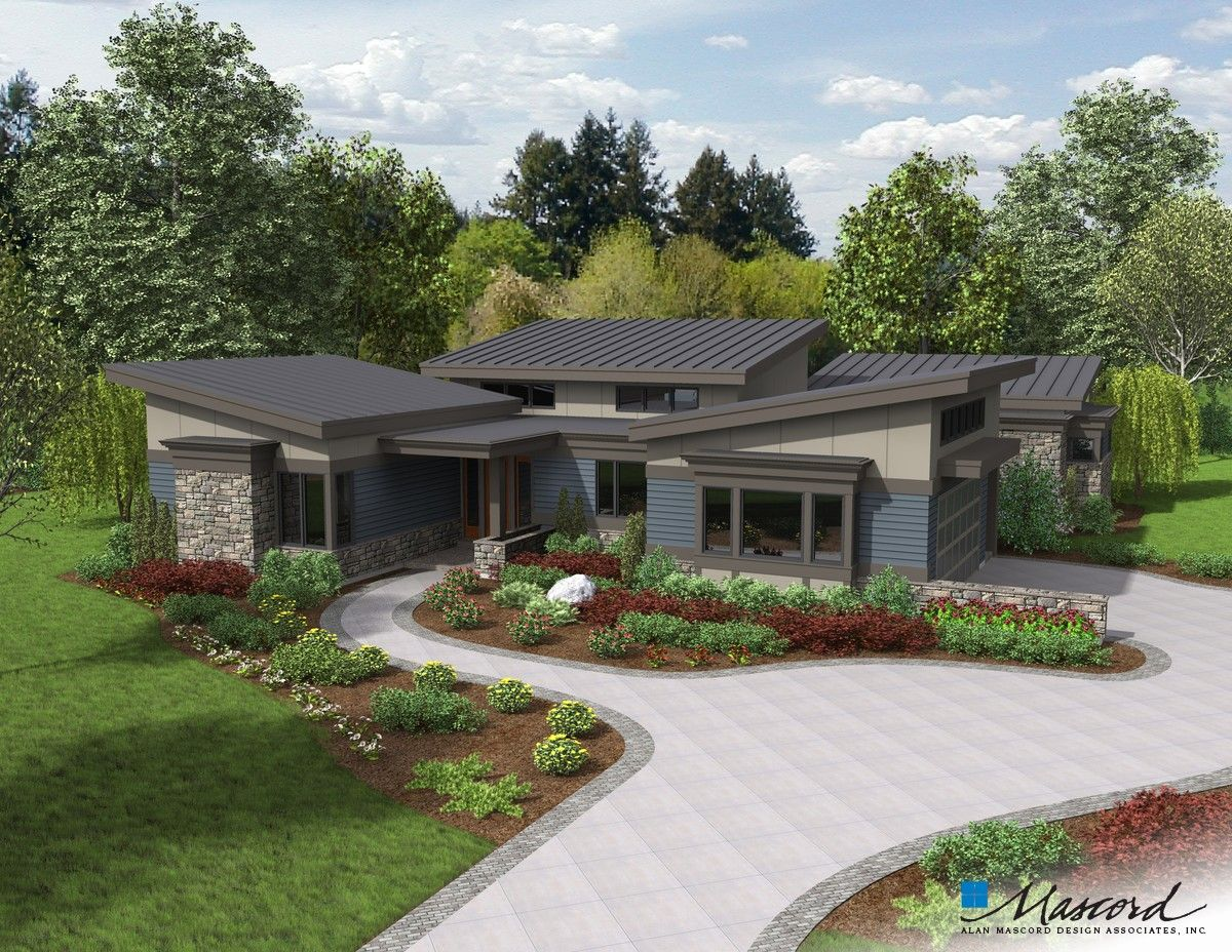 Mascord House Plan 1242a The Caprica Beautiful House Plans Modern Style House Plans Contemporary House Plans