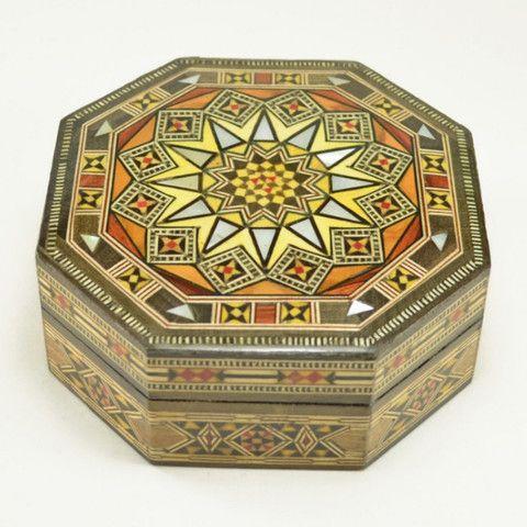 Small Decorative Box Wood Inlay Box  Keepsakes Mosaics And Box