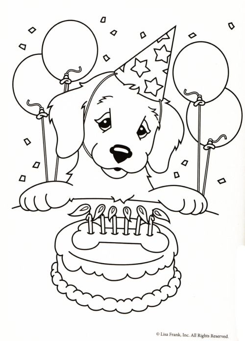 Kleurplaat Hond Verjaardagstaart Adult Coloring Pages More Pins Like This At FOSTERGINGER