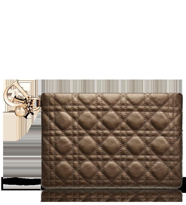 e21f8a6c6e22 DIOR PANAREA - Bronze coated-canvas  Dior Panarea  pouch