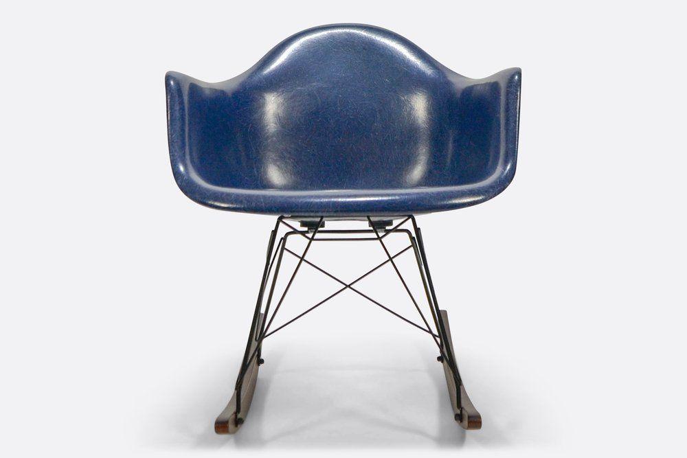 Eames RAR Navy Blue Herman Miller original fiberglass