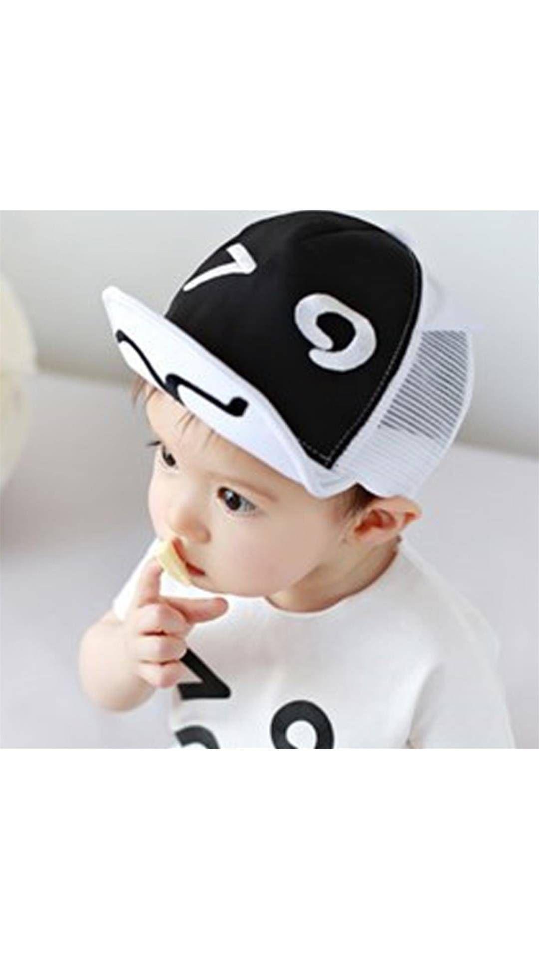 Black & White Baseball Cap For Baby Boy Cap