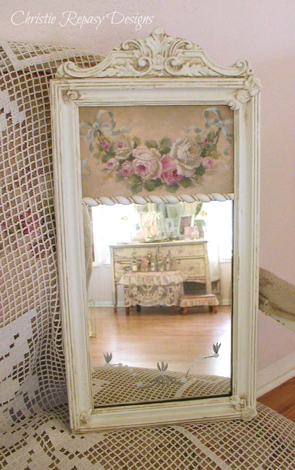 Shabby Chic Trumeau mirror Transformation~ C.Repasy | shabby Decor ...