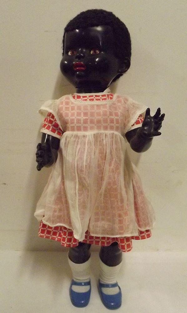 Vintage 1950s 22 Pedigree Hard Plastic Black Walker Doll Flirty Sleeping Eyes Ebay Vintage Vintage 1950s Dolls