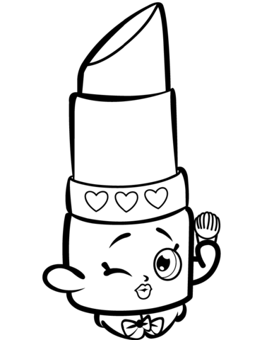 Beauty Lippy Lips Shopkin Coloring Page From Shopkins Season 1 Category Select 26983 Printable Crafts Of Cartoons Nature Animals Bible And Many