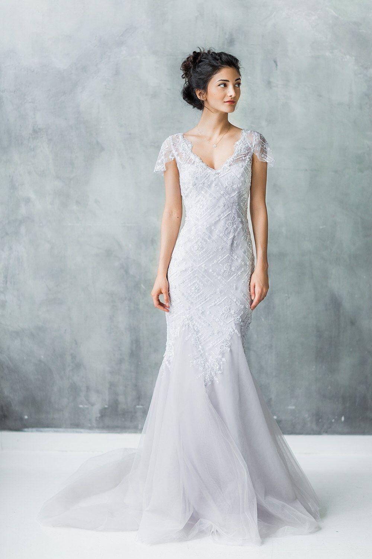 Fancy Grey Wedding Dress Embellishment - All Wedding Dresses ...