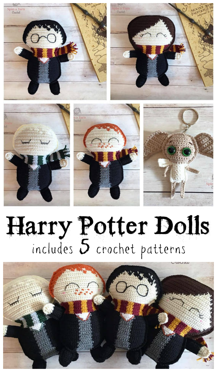 Harry Potter ragdoll crochet amigurumi doll patters for Harry, Ron ...