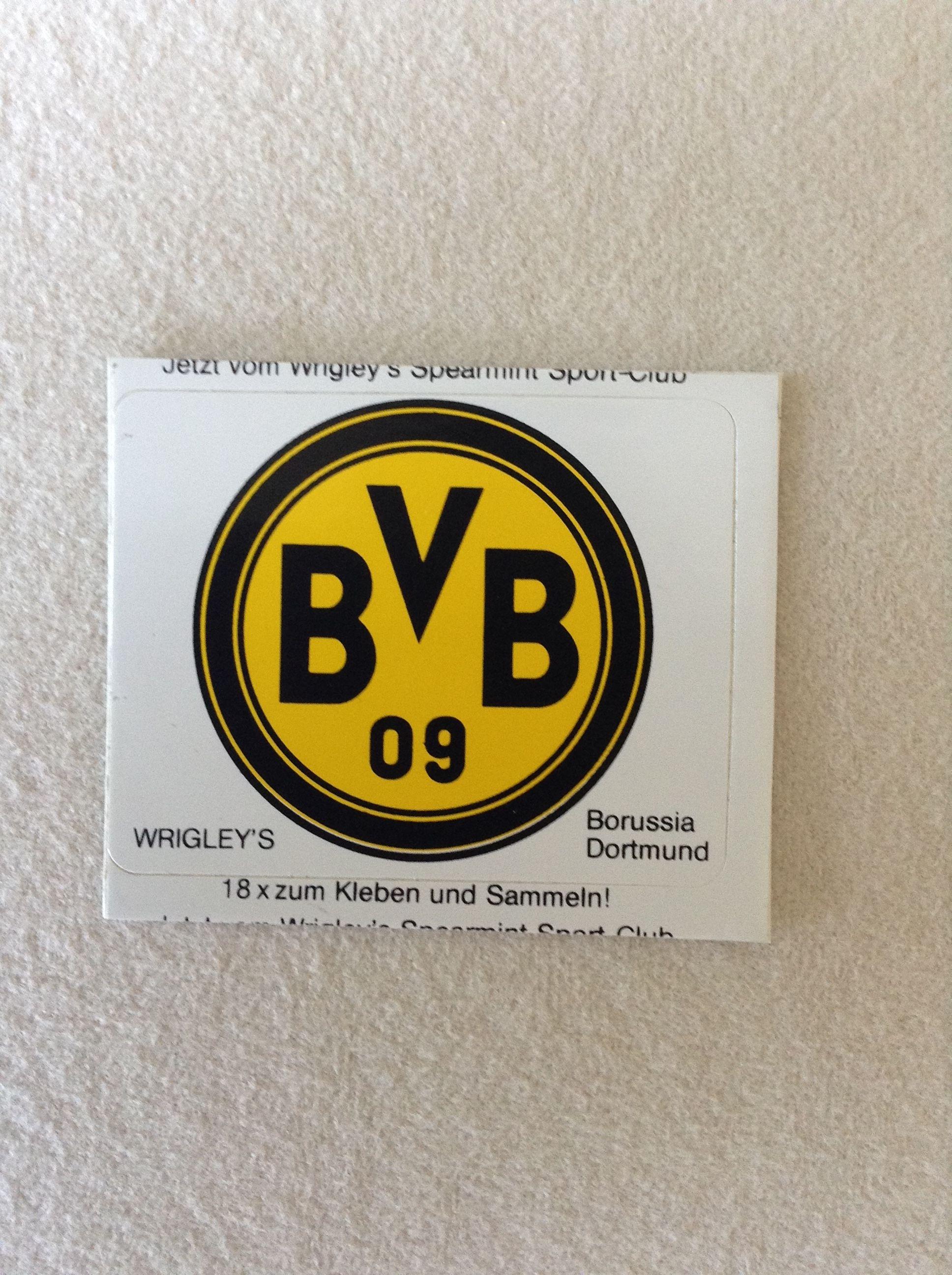 Wrigleys Bvb 09 Dortmund Sticker Als Den 70er 80er Jahren Diese Fussballsticker Waren Eine Zeitlang In Den Kaugummi Mehrfachpacks Dabei Dortmund Bvb Borussia