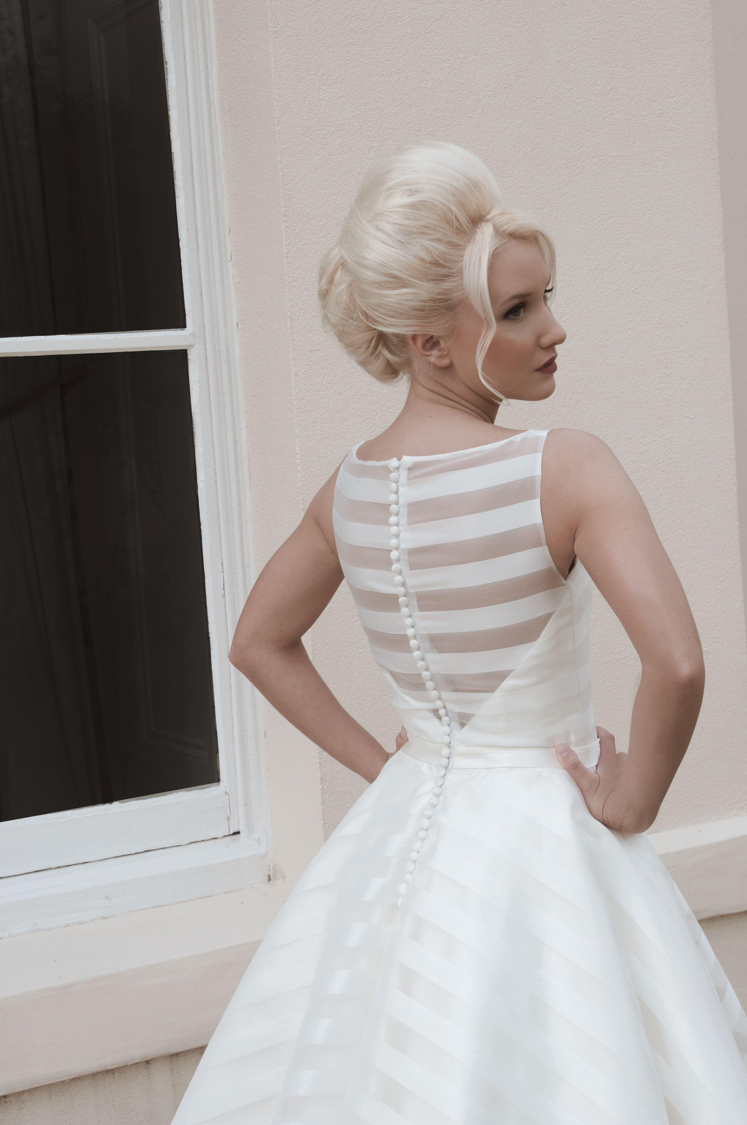 Mooshki Holly - Tea length full circle skirt of satin and organza ...