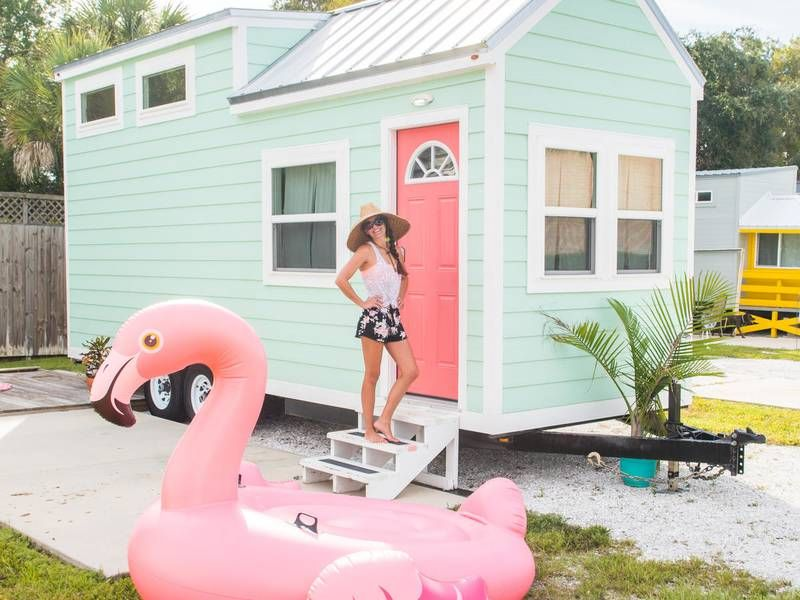 Tiny Siesta Rental Flamingo Tiny beach house, Beach