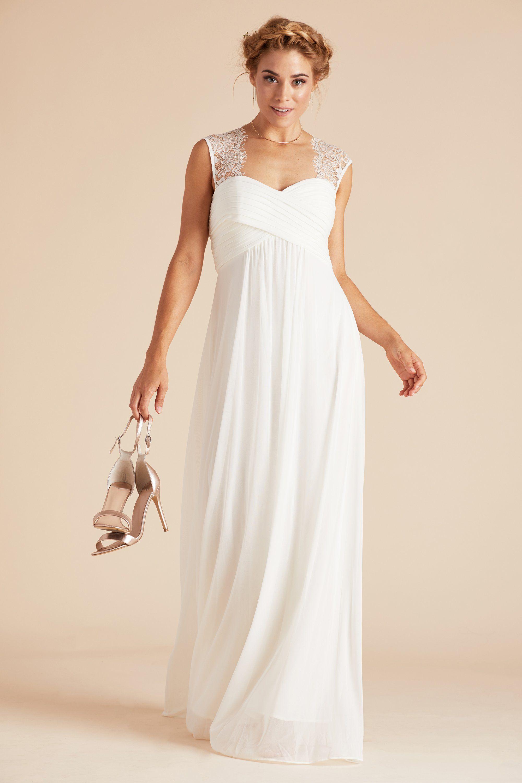 Birdy Grey Vintage Lace Empire Mary Bridesmaid Dress in