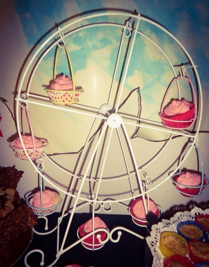 Cupcakes na roda carrossel
