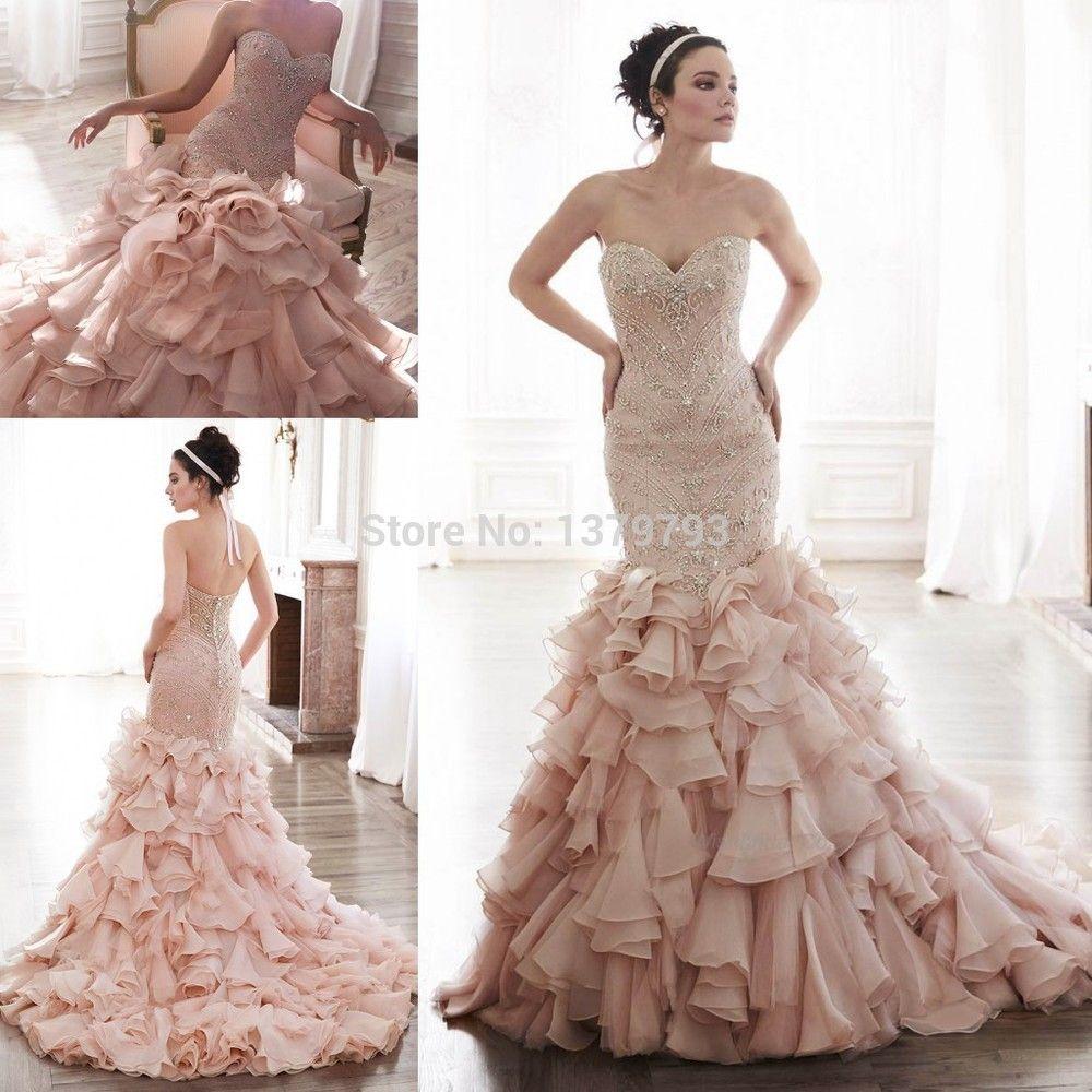 Aliexpress Com Buy 2015 Luxury Sweetheart Blush Beaded Bodice Pleated Skirt Mermaid Brida Blush Pink Wedding Dress Pink Wedding Dresses Wedding Dresses Blush [ 1000 x 1000 Pixel ]