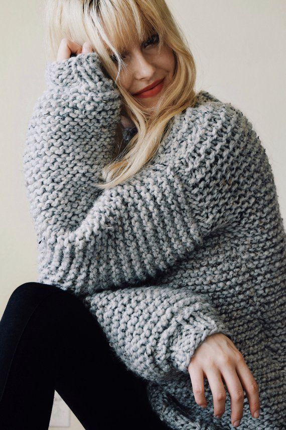 KNITTING PATTERN ⨯ Chunky Knit Sweater Pattern, Bulky ...