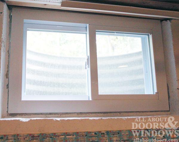 Window In Rough Opening Uncaulked Basement Windows Windows Basement Window Replacement