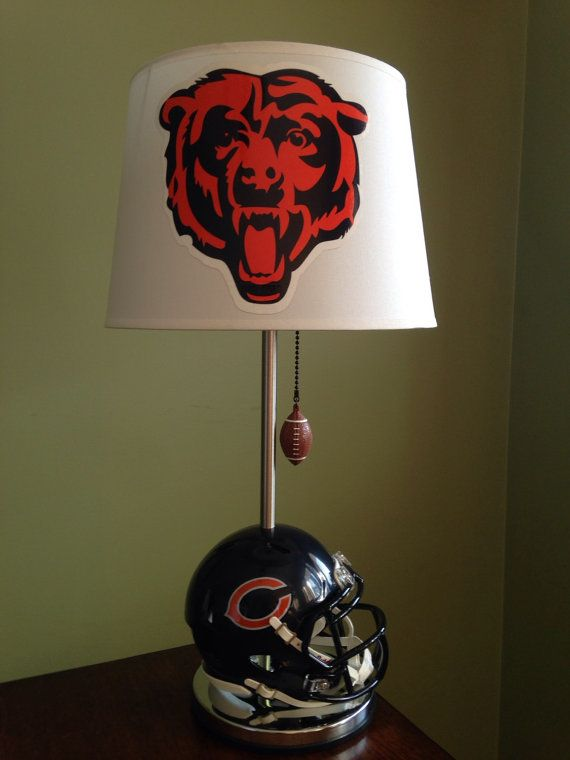 Chicago Bears mini football helmet lamp | Aiden's Room | Pinterest ...