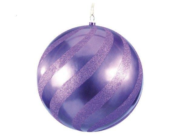 Boule de Noel violette de 40 cm. Ornement de Noël - Decovitrines ...