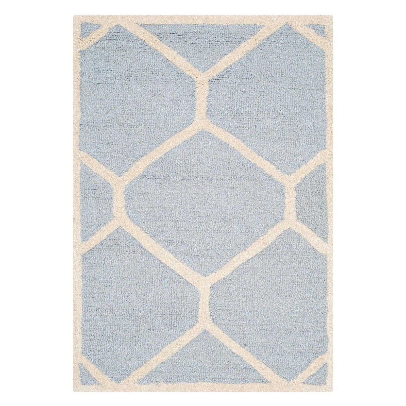 Safavieh Cambridge CAM144 Indoor Area Rug Light Blue / Ivory