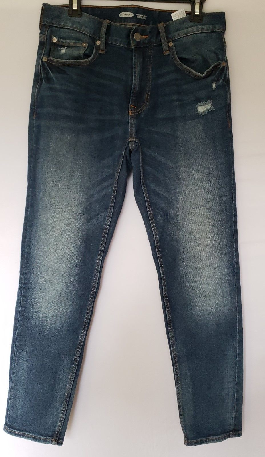 Old navy men s jeans relaxed slim 30x30 ripped color
