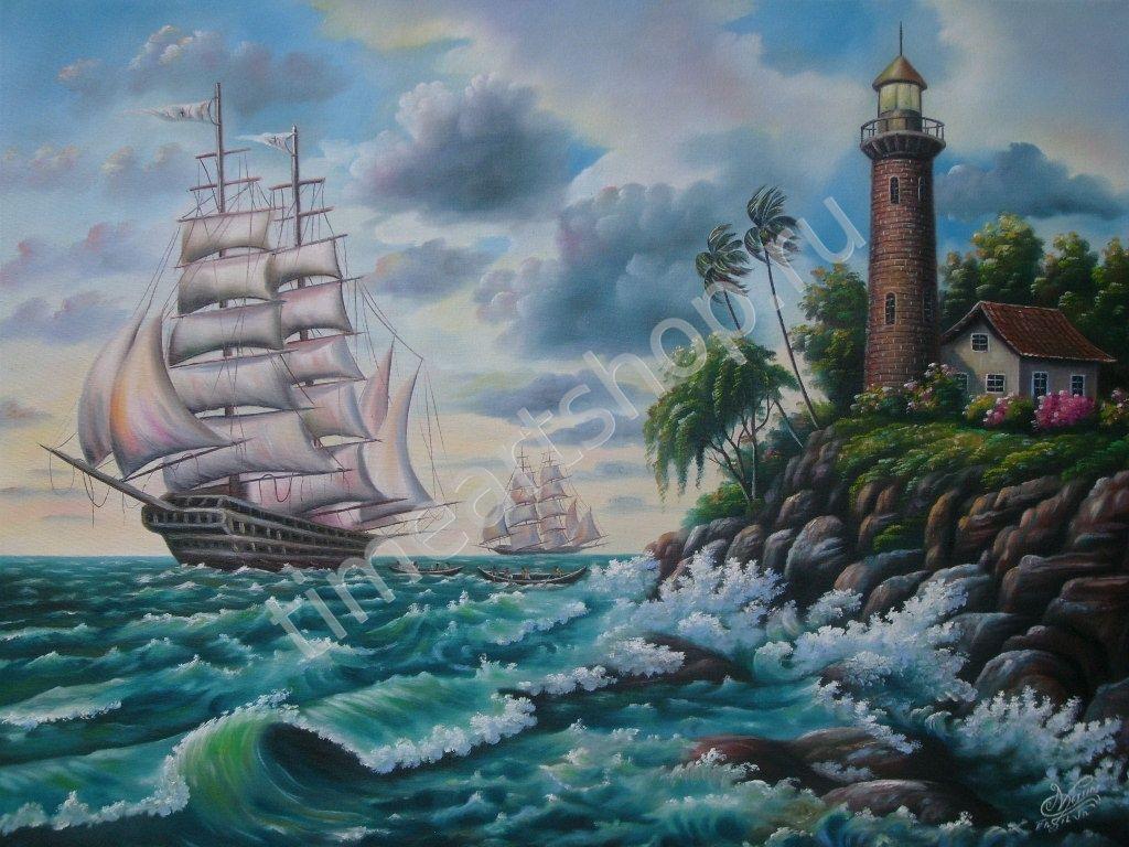 К родным берегам, картина раскраска по номерам, размер 40 ...