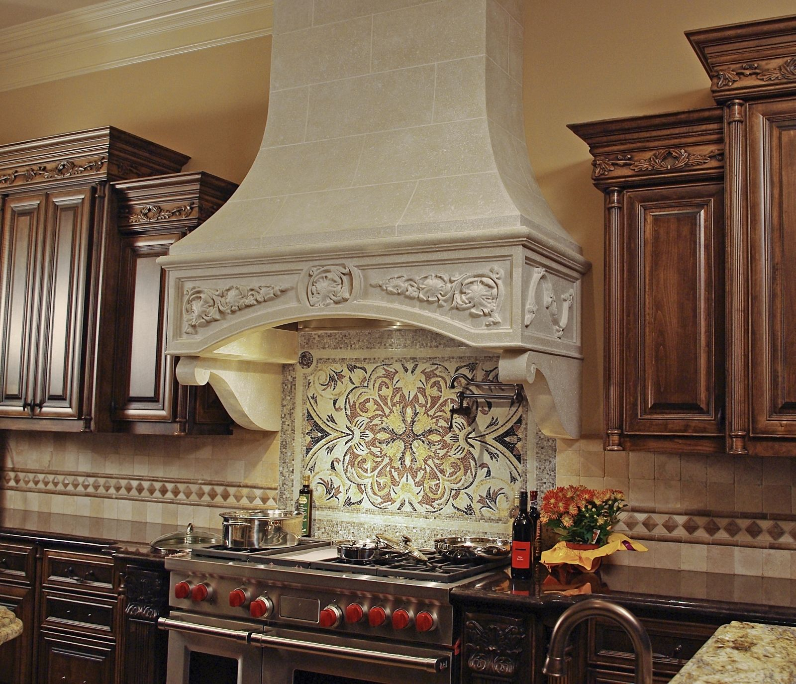 Traditional Kitchen Backsplash Ideas: Image Detail For -Marie-Antoinette Kitchen Hood With