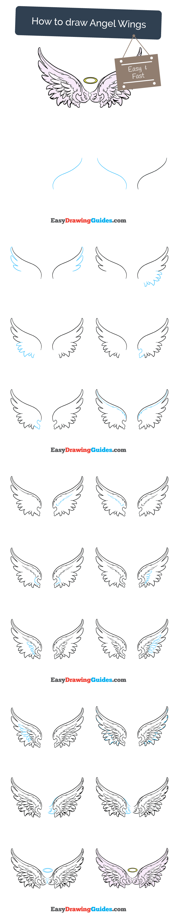 How To Draw Angel Wings In A Few Easy Steps Doodles Pinterest