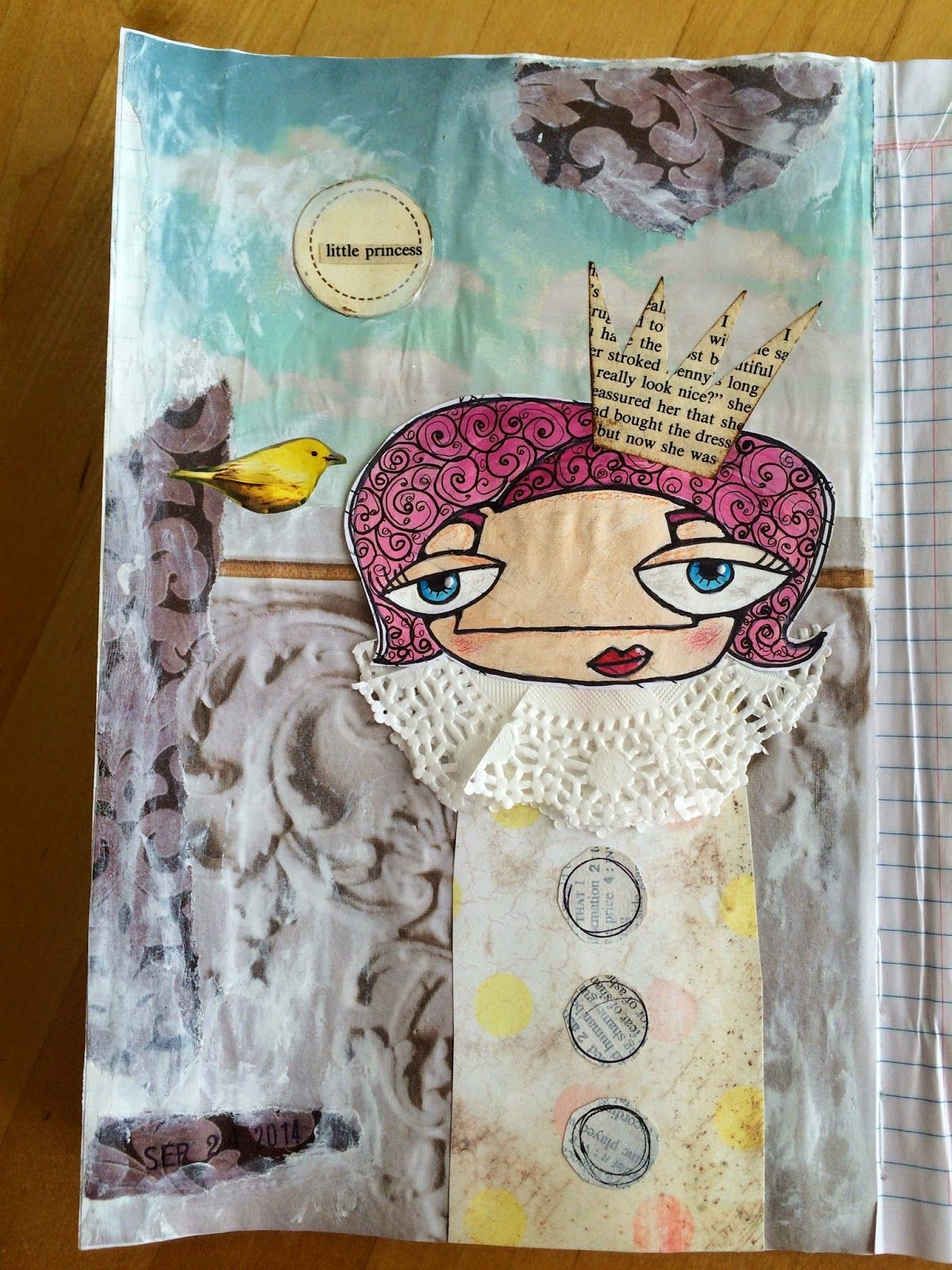 T. Matthews Fine Art: Art Journal Page 9/24/14 - Little Princess