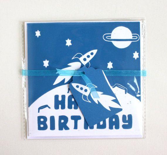 Kinder Geburtstagskarte.  Linolschnitt-alles von TheLinoPrintShop