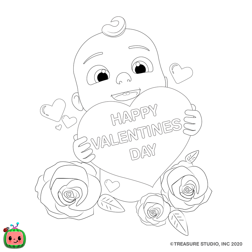 Other Coloring Pages Cocomelon Com In 2020 Happy Valentines Day Coloring Pages Download Valentines