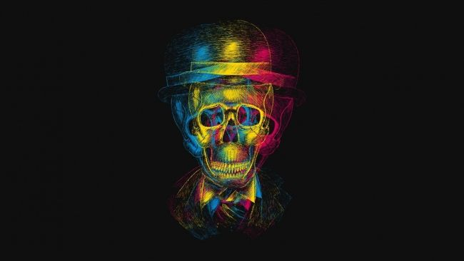 Full HD Wallpaper skull variegated bowler, Desktop Backgrounds HD 1080p