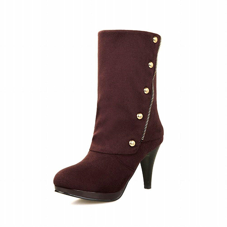 Women's Chic Studded Fashion Elegance Platform High Heel Dress Boots