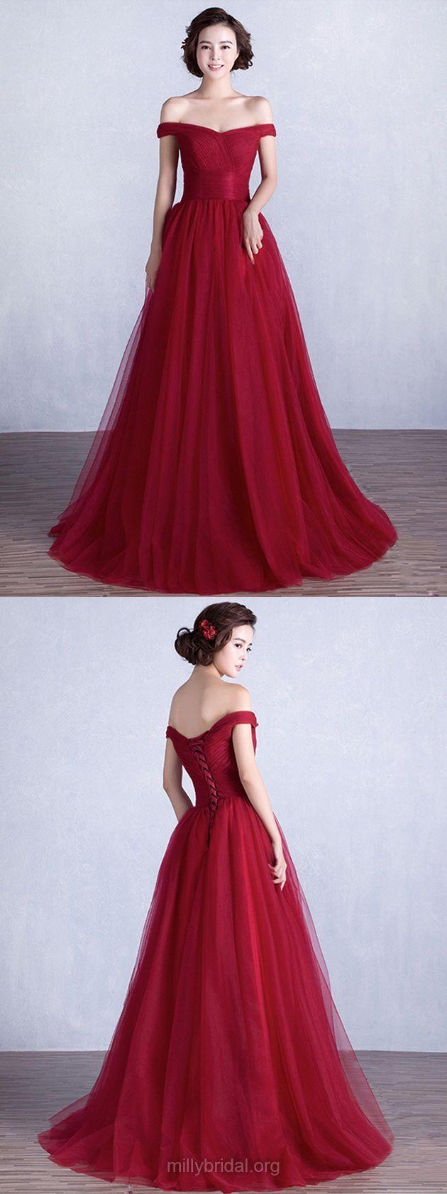 Burgundy prom dresses long prom dresses princess offthe