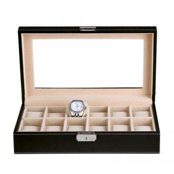 12 Uhren Uhrenbox Uhrenkoffer Uhrentruhe Uhrenkasten Uhrenschatulle Schmuckbox
