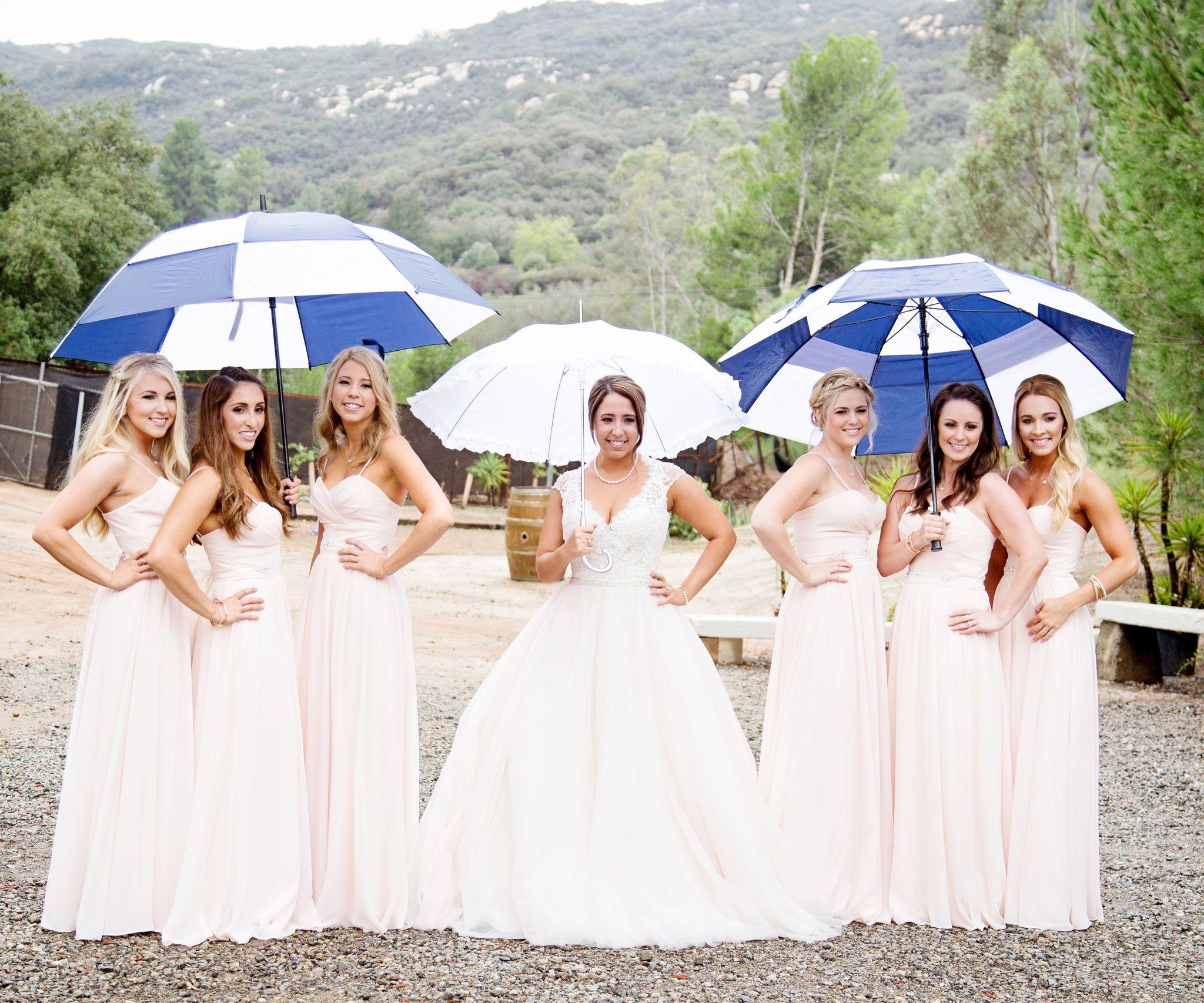 Plus side of a rainy wedding day.