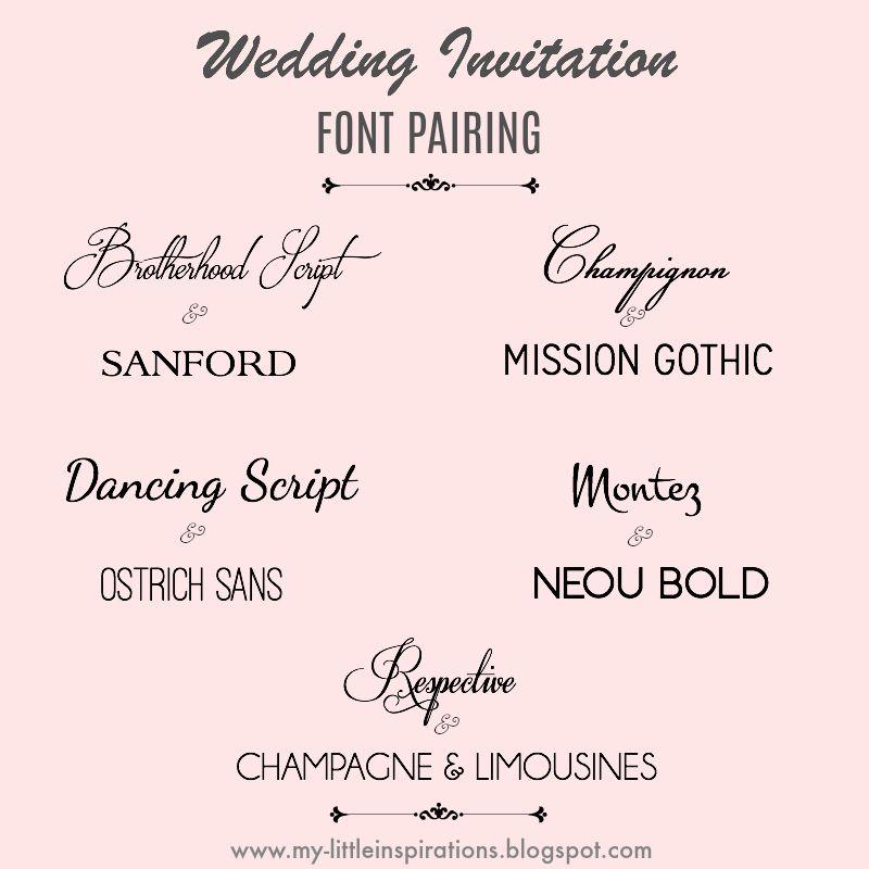 Wedding fonts: i migliori per partecipazioni di Matrimonio