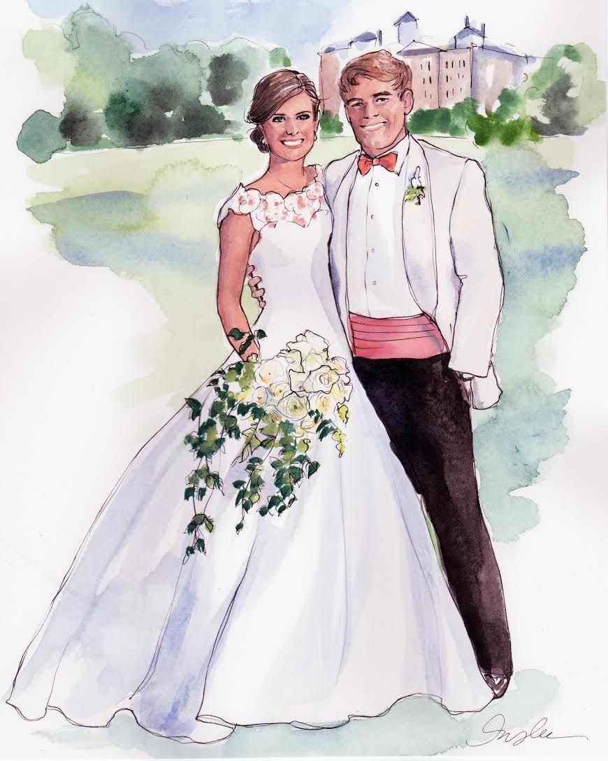 Pin By Mary Conway On 3 Bridal Portraits Wedding Art Painting Wedding Illustration