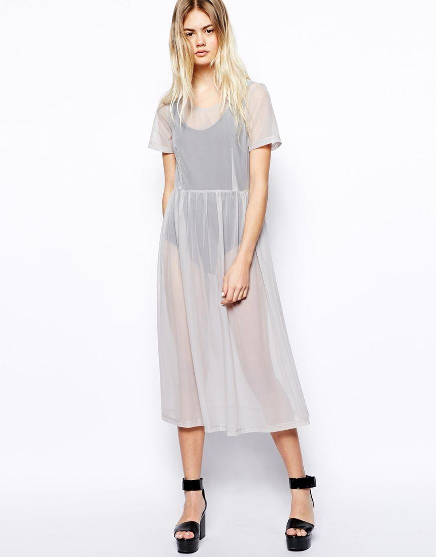 ASOS Africa Midi Dress in Mesh http://asos.to/1oMmWBP