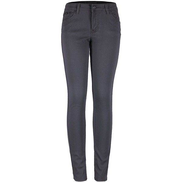 2LUV Women's Stretchy 5 Pocket Skinny Jeans Black 7 at Amazon Women's... (€27) ❤ liked on Polyvore featuring jeans, stretch jeans, denim skinny jeans, cut skinny jeans, 5 pocket jeans and stretch denim skinny jeans