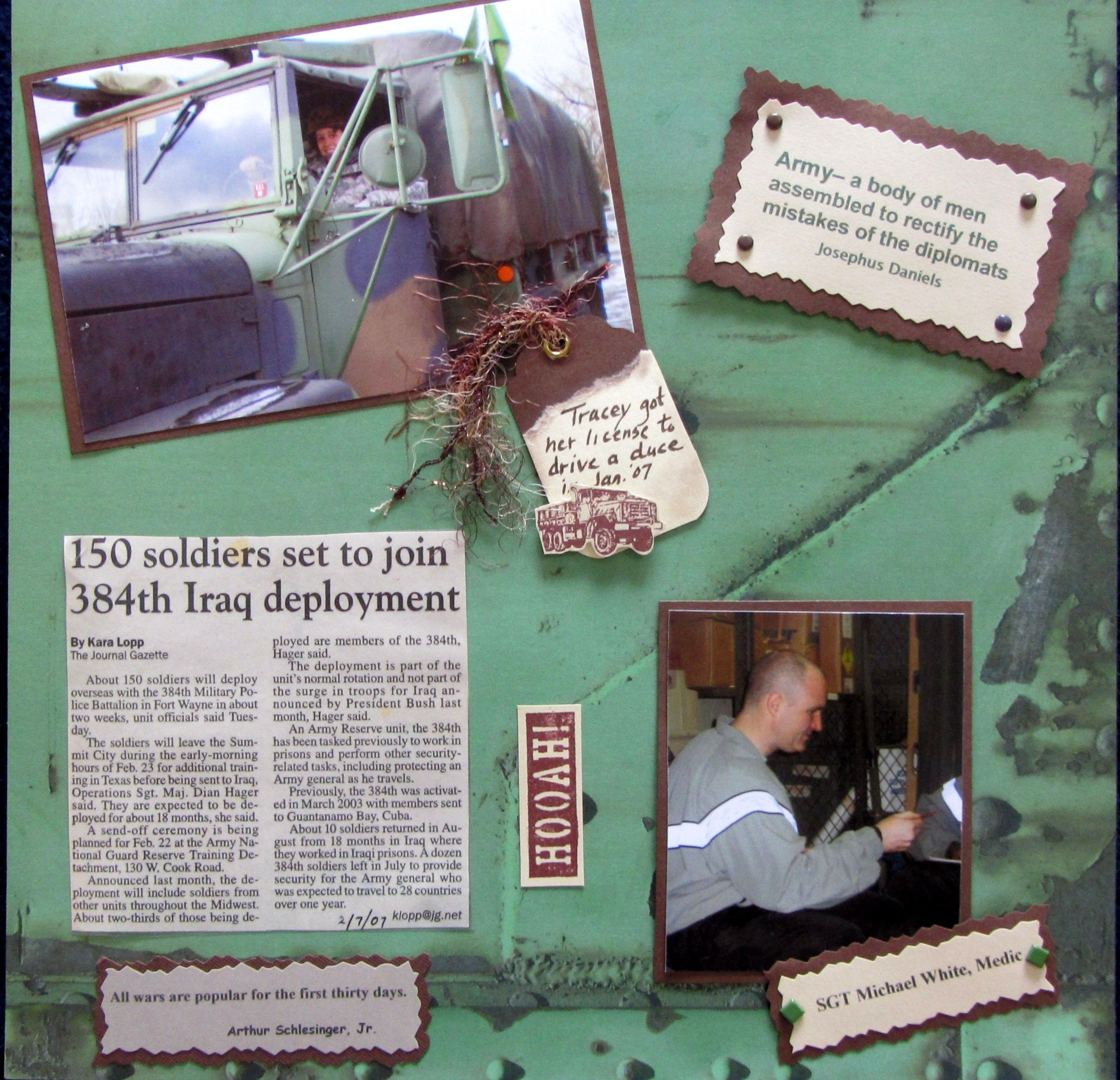 Scrapbook ideas military - Military Scrapbook