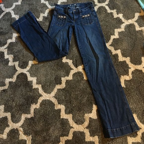"""Juicy Couture Wide Leg Jeans 24 Perfect condition. No holes. No stains. Tight jeans that bell at the bottom. Adorable but too long on me. I'm 5'4"""" fit adorable with heels or wedges but I never wear them. Juicy Couture Jeans Flare & Wide Leg"""