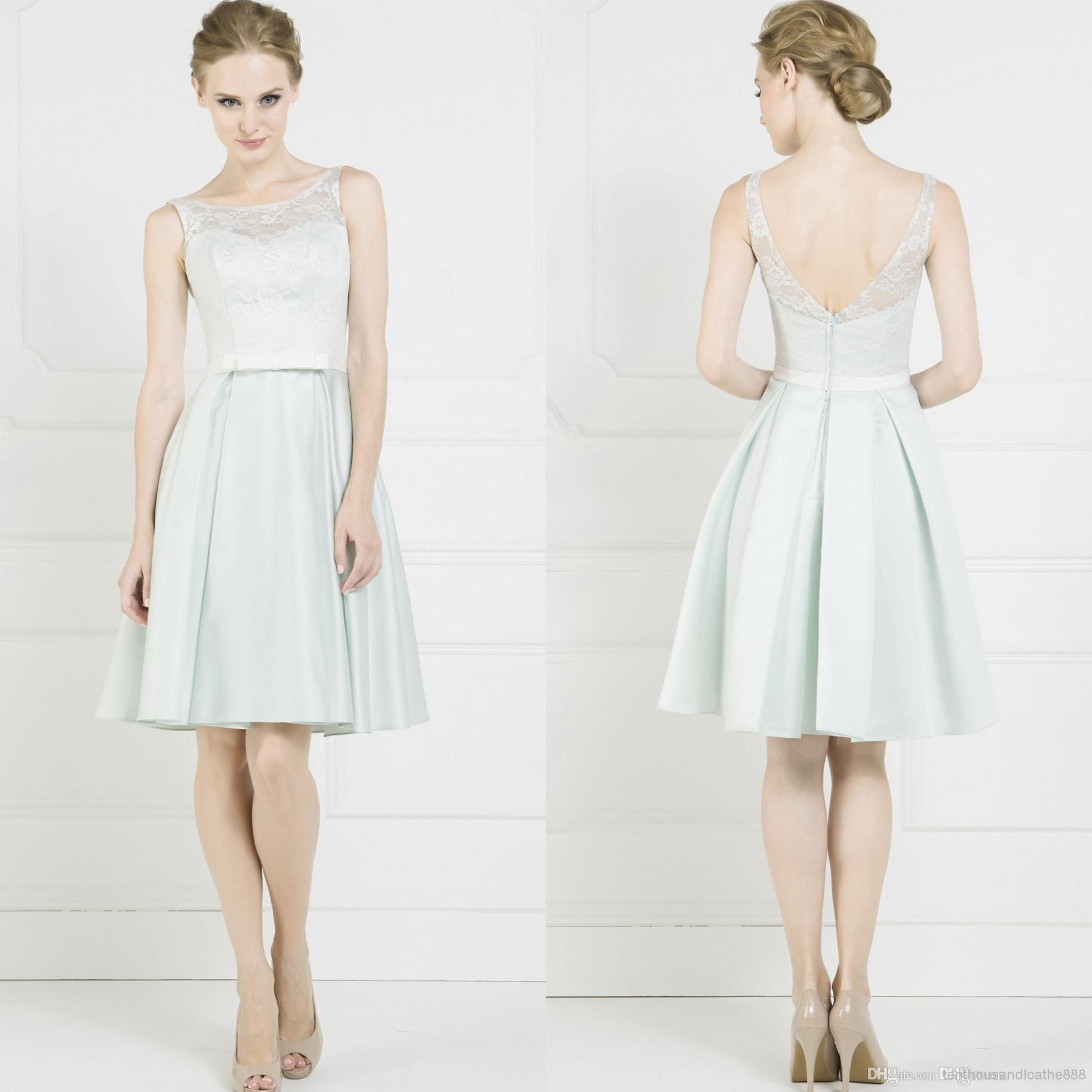 Wholesale new bridesmaids stain gowns short bridesmaid dresses