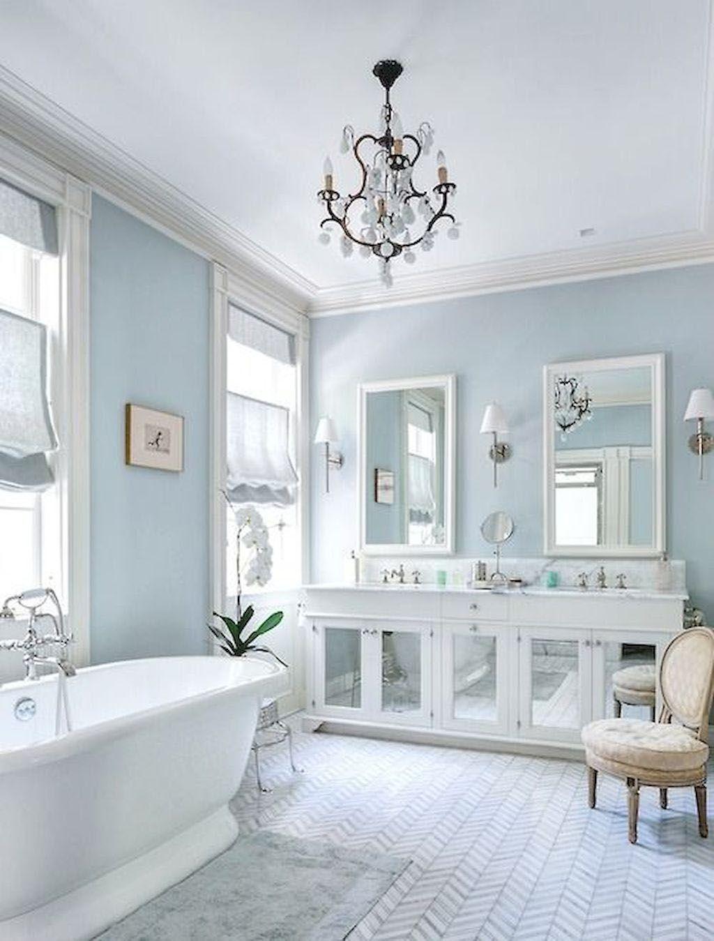 Ways To Decorate A Bathroom Colour Scheme Ideas Uk To Refresh Your Home Luxurybathroomideasuk White Master Bathroom White Bathroom Designs Light Blue Bathroom