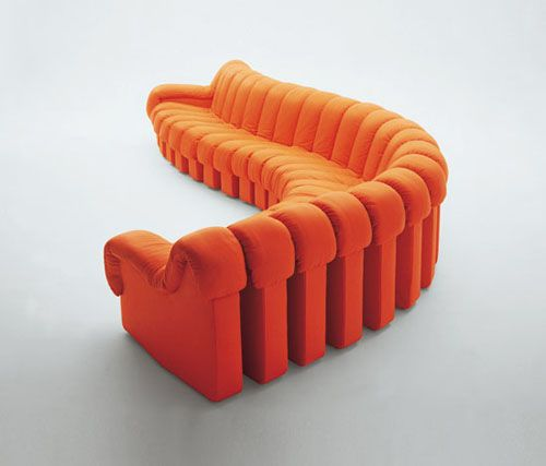 57 Chic And Creative Sofa Designs : 57 Stylish And Creative Sofa Designs  With Spiral Orange Sofa Design