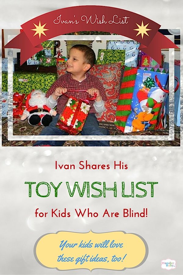 Ivan\'s Christmas Wish List: Gift ideas for kids who are blind | KBN ...