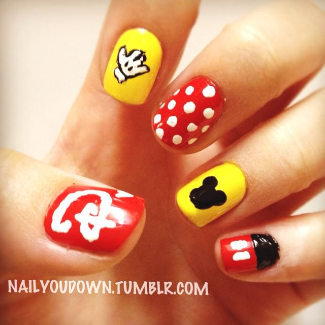 nailyoudown.tumblr.com - Disney nail art for my trip to Disneyland