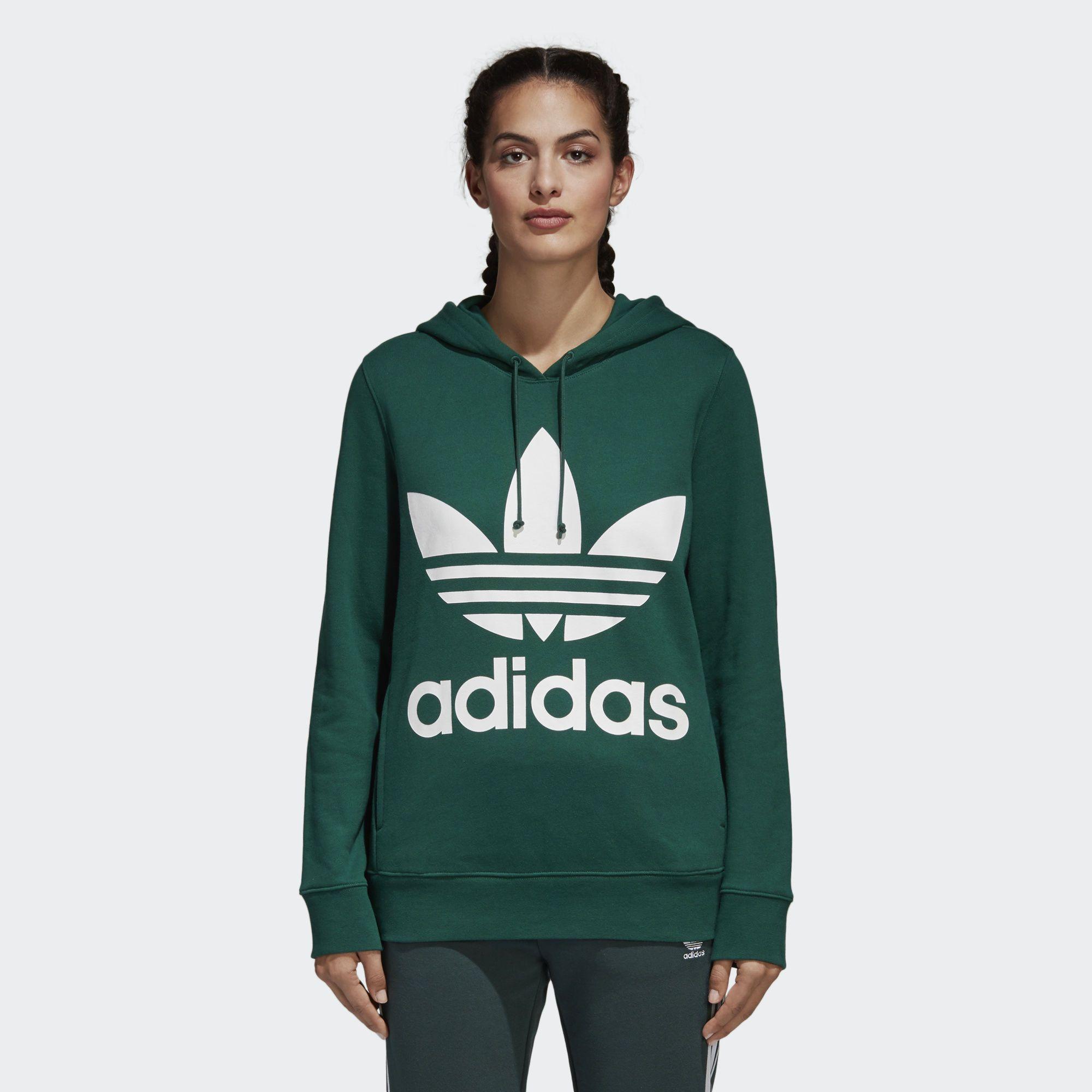 adidas Originals Kapuzenpullover Hoodie Oversized Trefoil Hoodie Damen Frauen