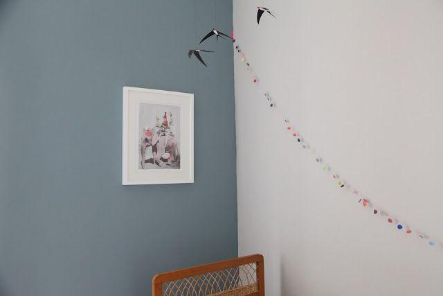 mur bleu gris 2 Peinture chambre Thea Pinterest Kids rooms - peinture chambre gris et bleu