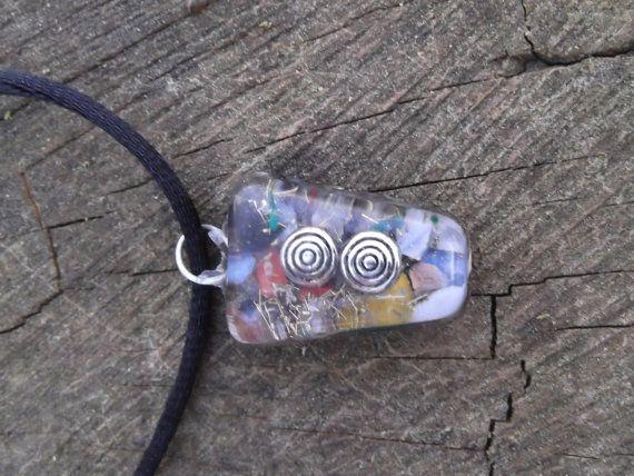 Mini Orgone Energy Crystal Pendant This Colorful Energy Pendant