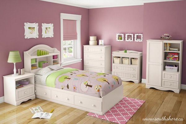 Girls Bedroom Ideas with White Bedroom Furniture Set | Παιδικά ...