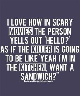 Yeah I'm in the kitchen, want a sandwich?! LMAO!